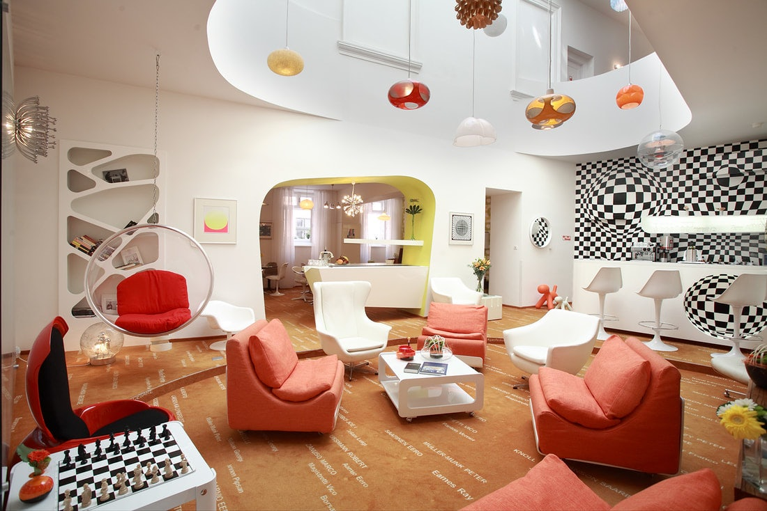 vintage style interior of Hotel Sax