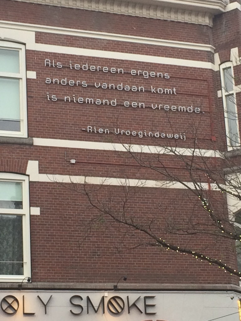 street poetry at Rotterdam