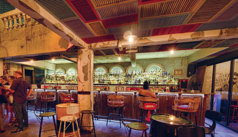 interior of cocktail bar Revolucion