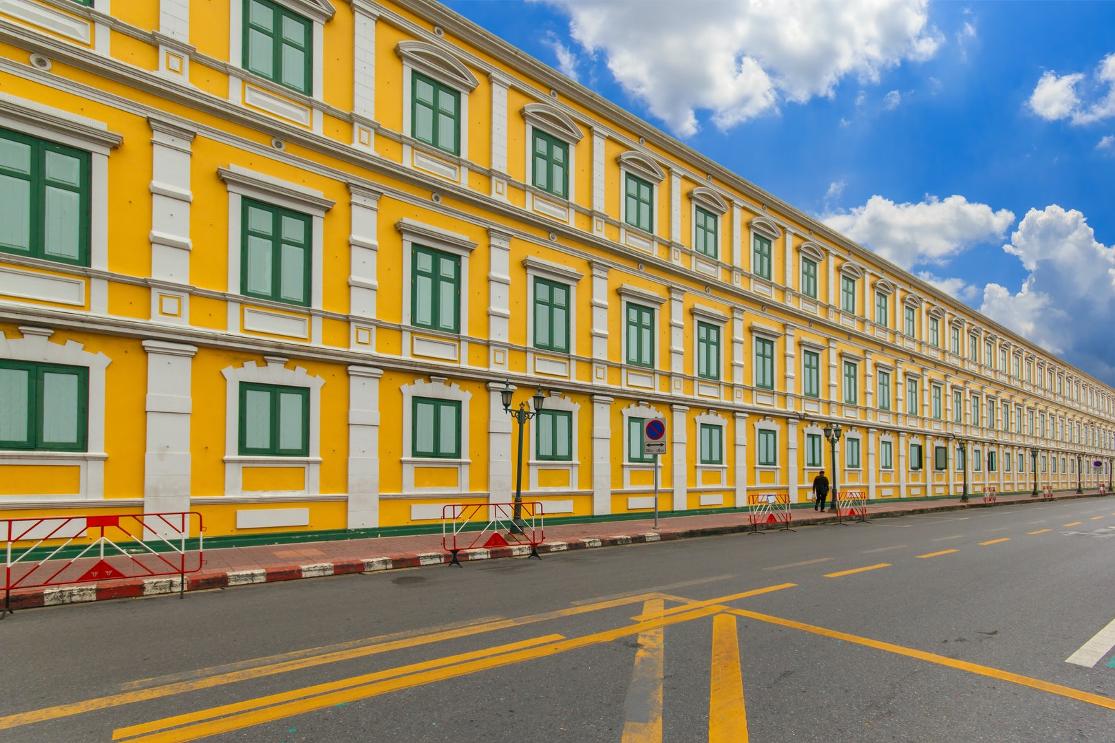 yellow building Ministry of Defence