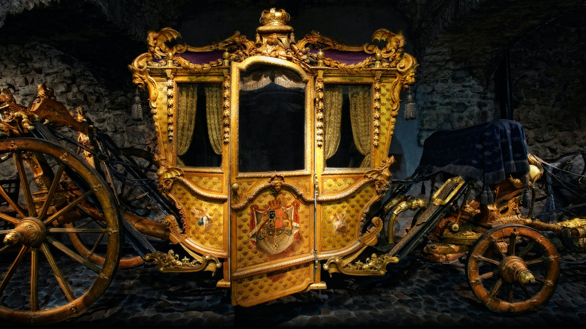 royal carriage in Livrustkammaren museum