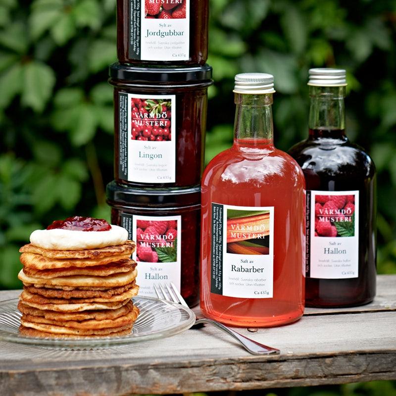 pancakes and organic cider from Värmdö Musteri