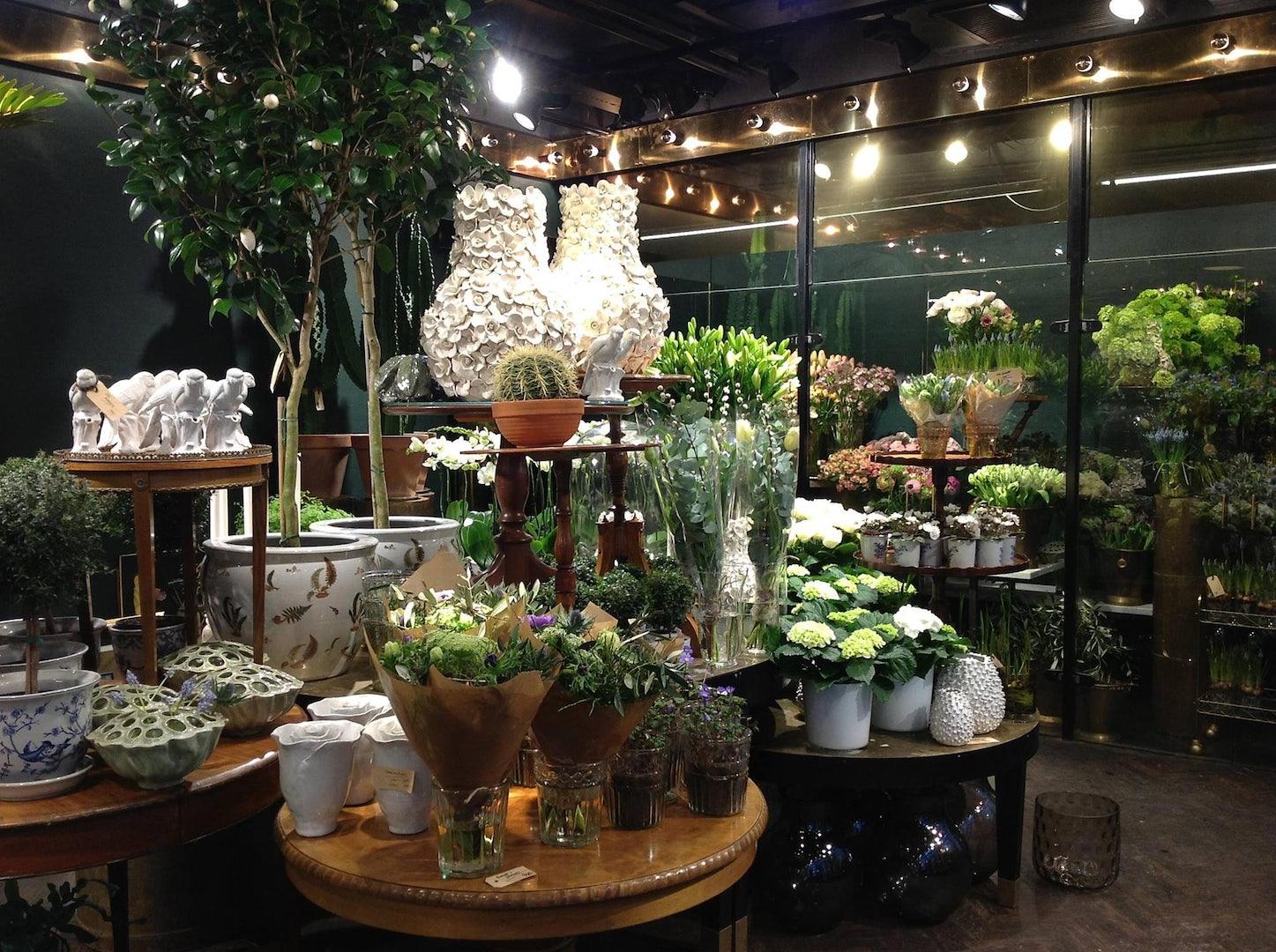 interior of flower shop Floristkompaniet