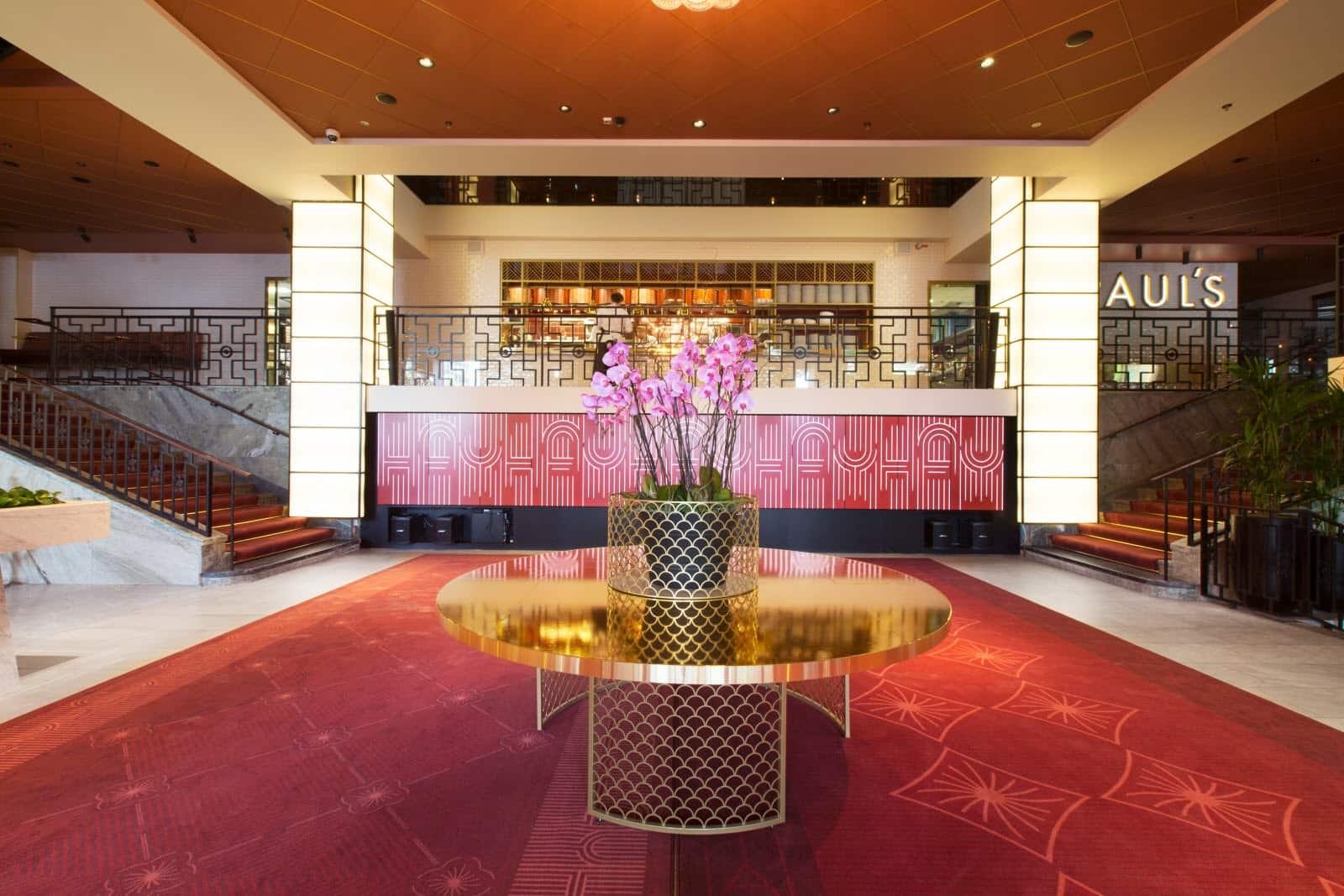 reception of Haymarket hotel