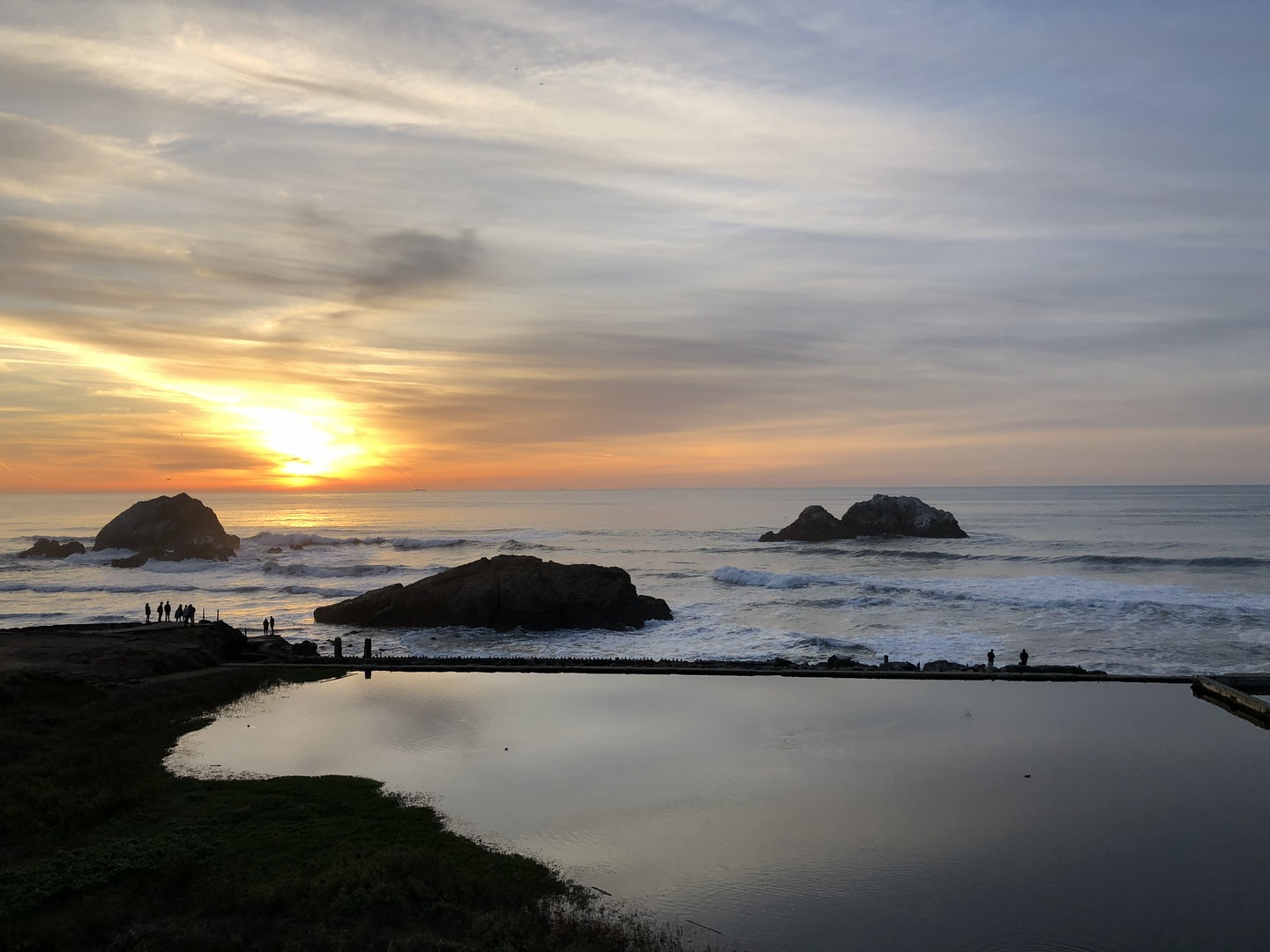 Suthro baths in SF during sunset