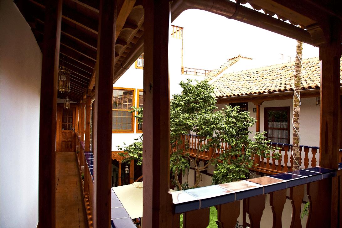 patio of Hotel Emblemático San Augustín