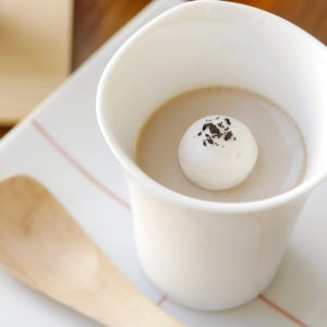 a cup of coffee from Cha Cha No Ma