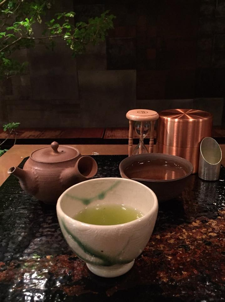 a cup of Japanese tea and pot at  Cha-no-ha