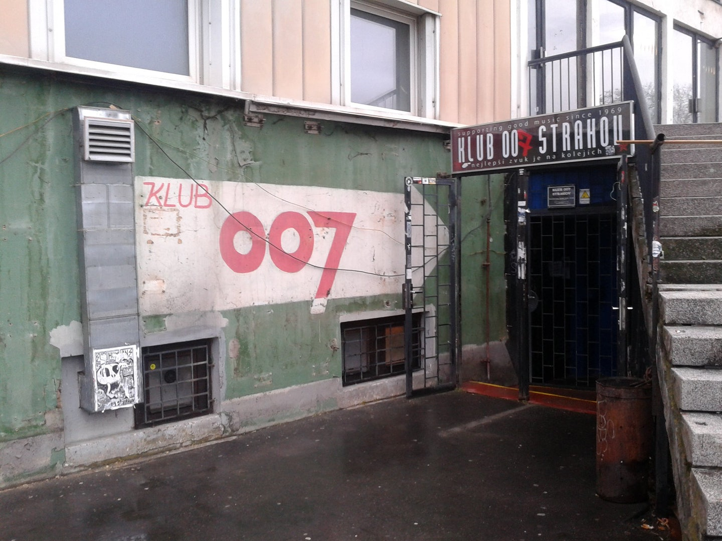 entrance to Klub007 in Prague