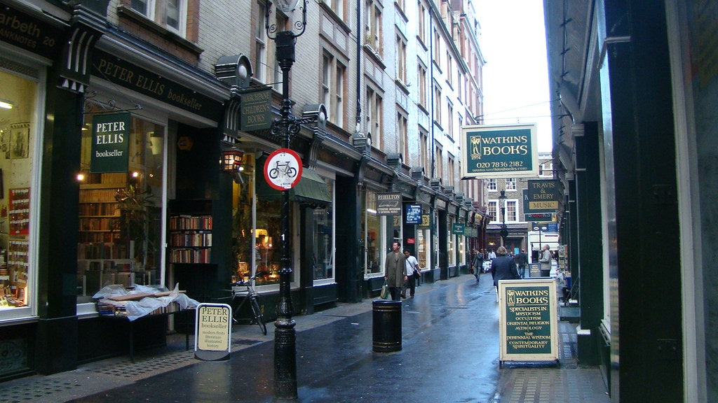 Cecil Court street in London