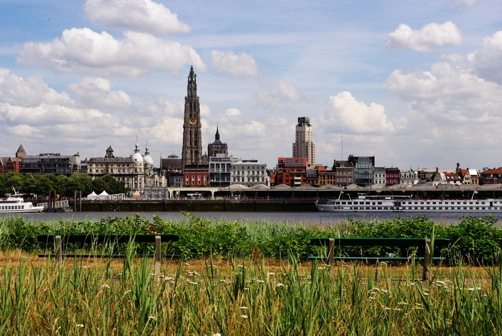 View of Antwerp from Linkeroever