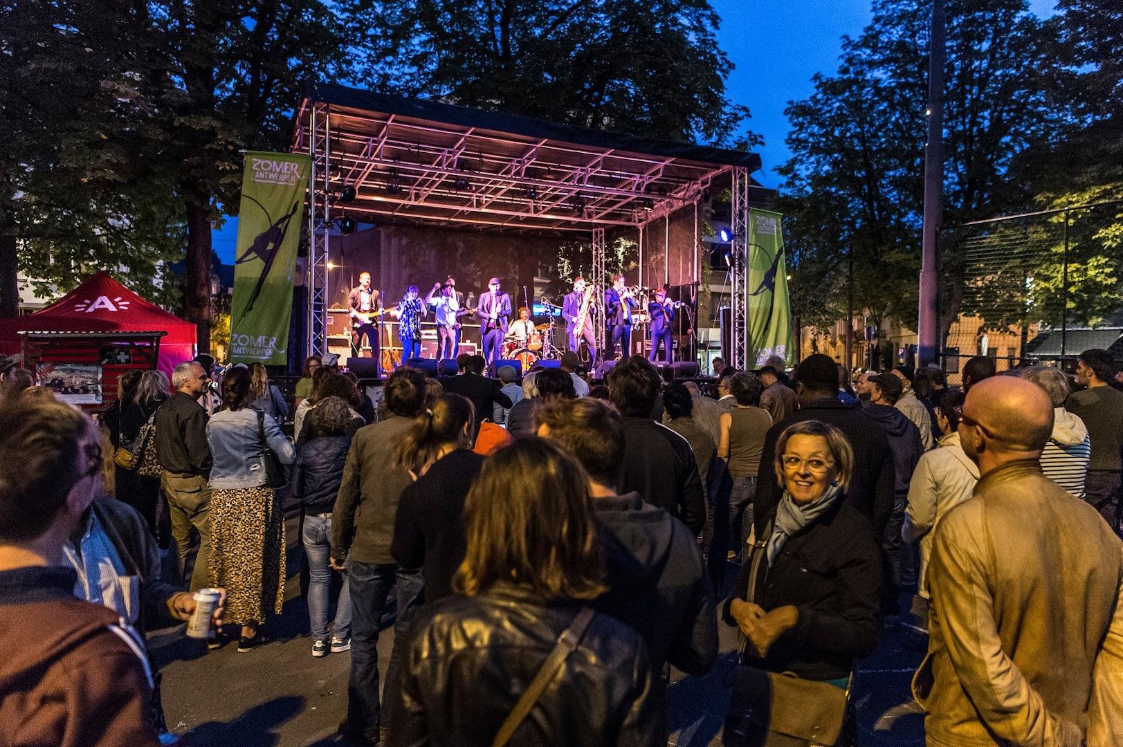 music performance at Zomer van Antwerpen 2018