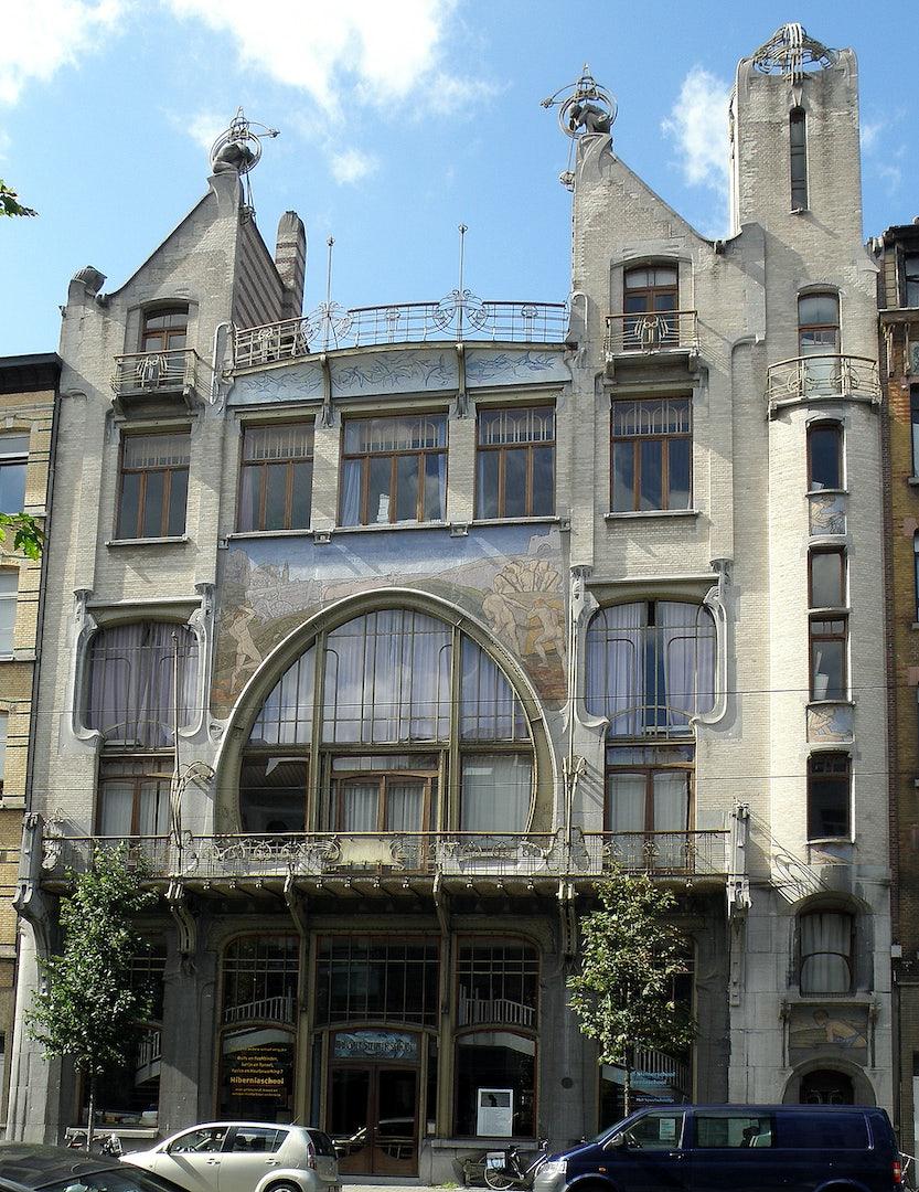 art nouveau Steiner school Antwerp