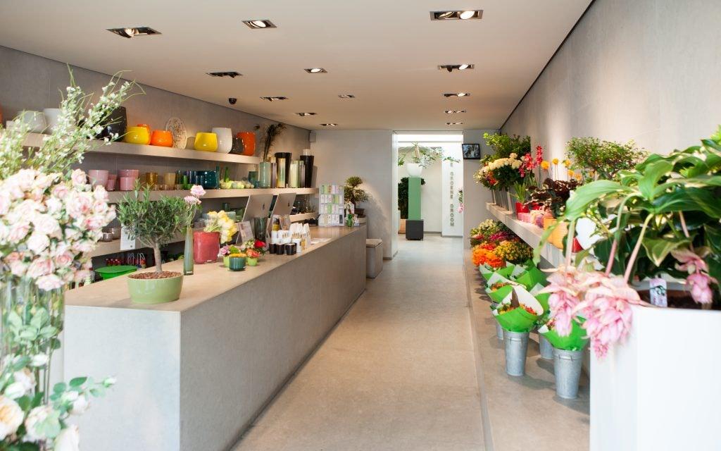 interior of De Groene Droom flower shop