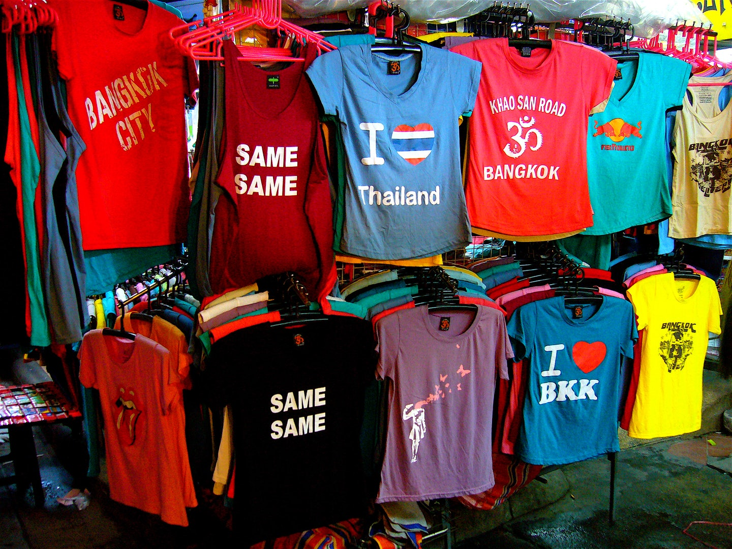 t-shirts at market