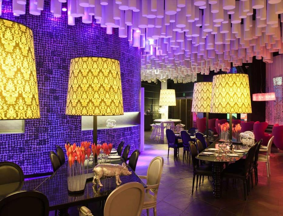 interior of restaurant at B-Lounge