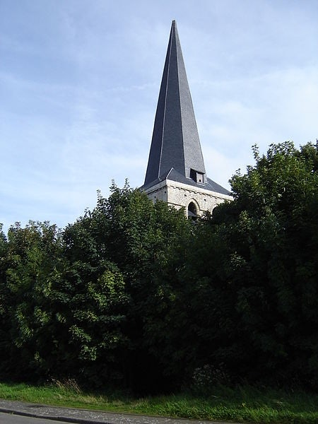 an abandoned and overgrown Oosterweel church