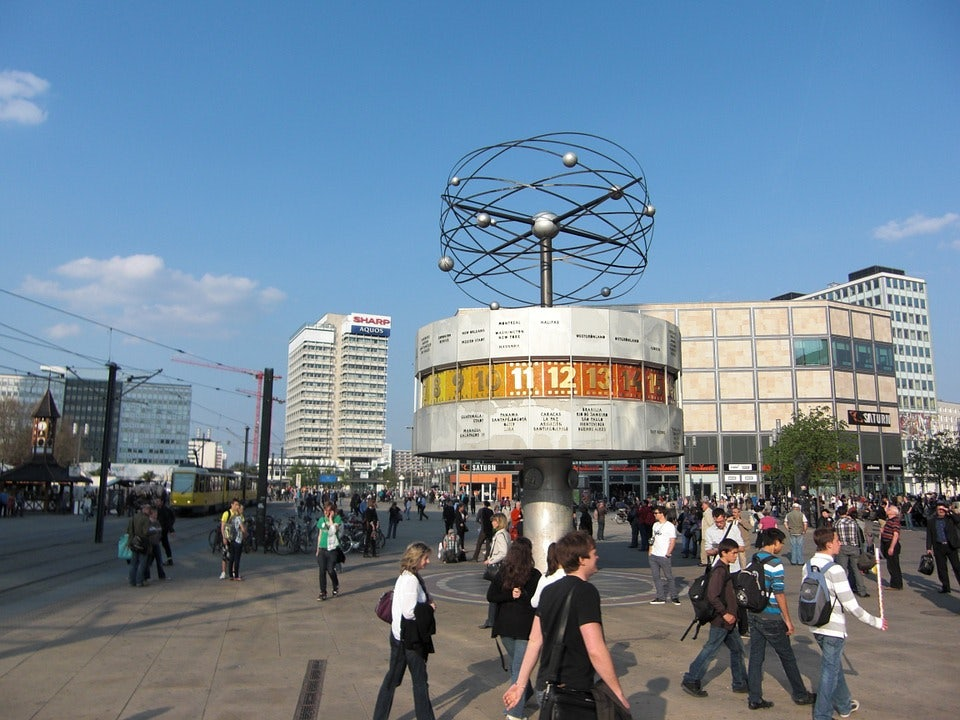 people at Alexanderplatz