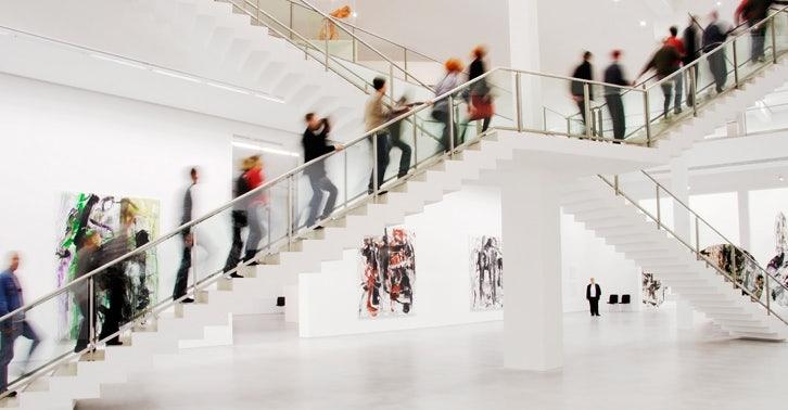 visitor at Berlinische Galerie