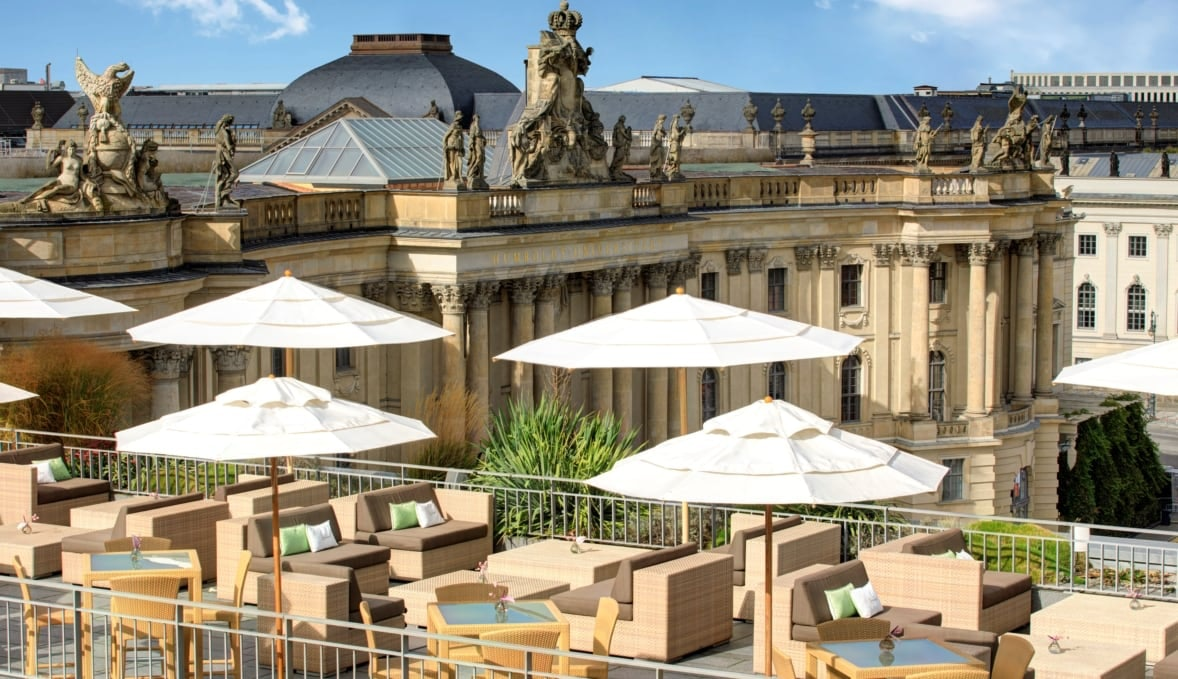 Roof top with a view at Hotel de Rome