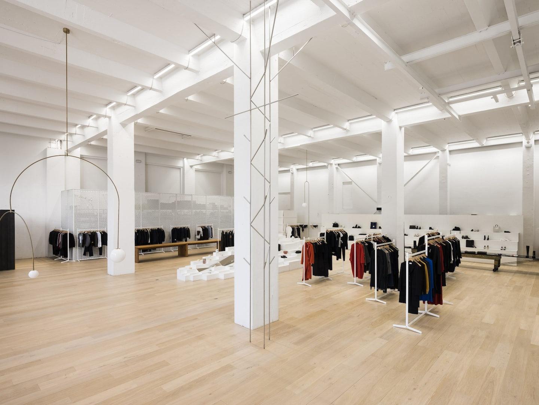 interior of Andreas Murkudis store