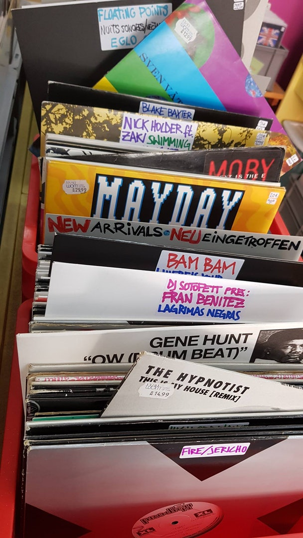 vinyls at Audio-In Used Record Store