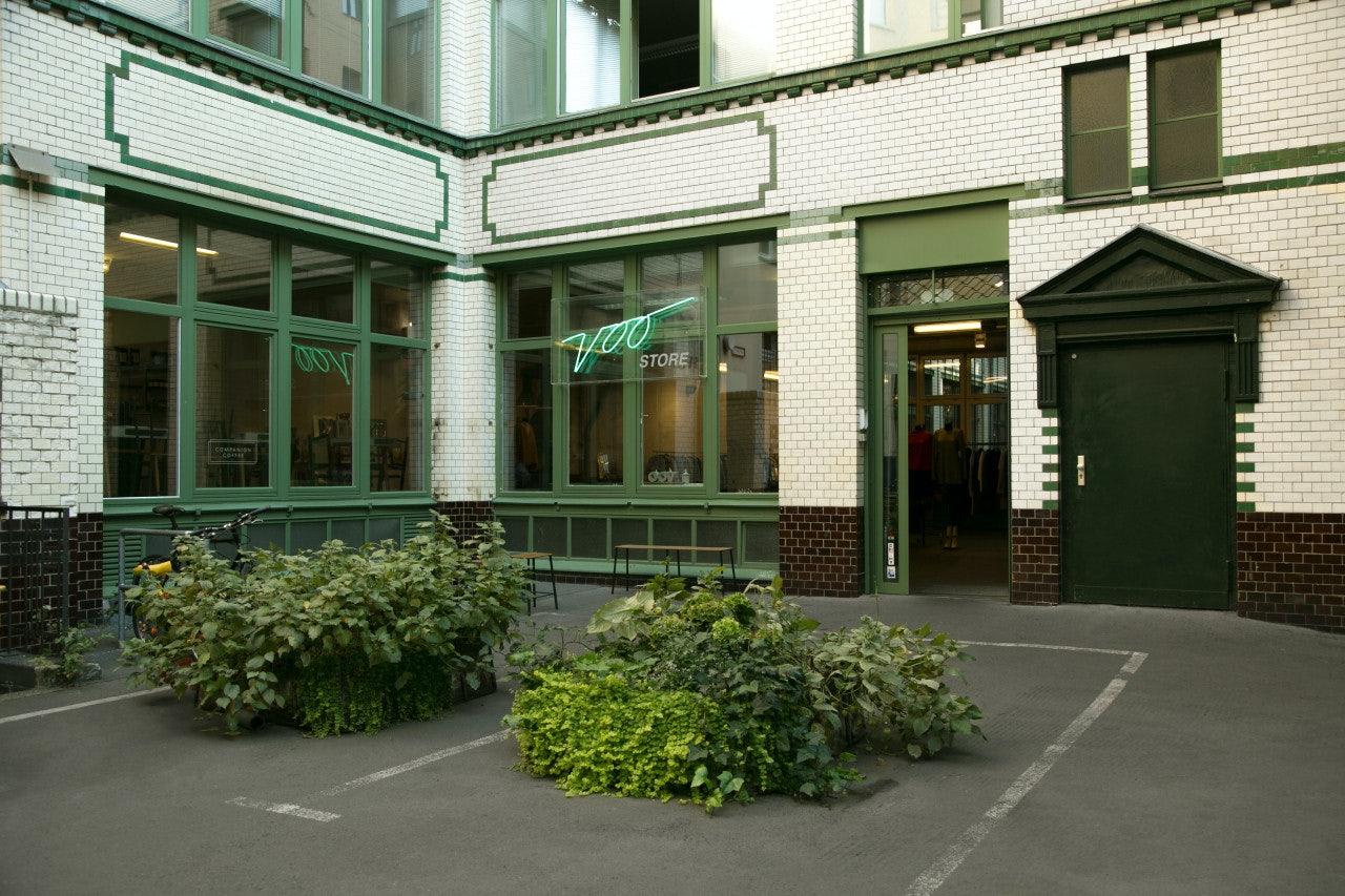 Voo Store in a hidden courtyard at Oranienstrasse