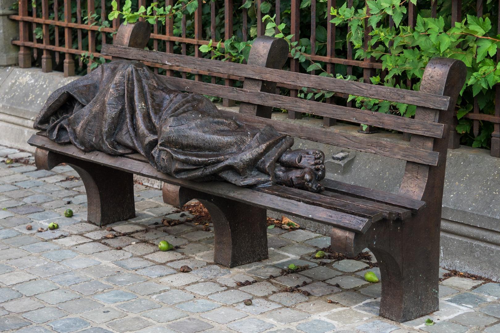statue of Homeless Jesus