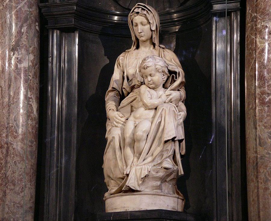 Michelangelo's Virgin and Child statue