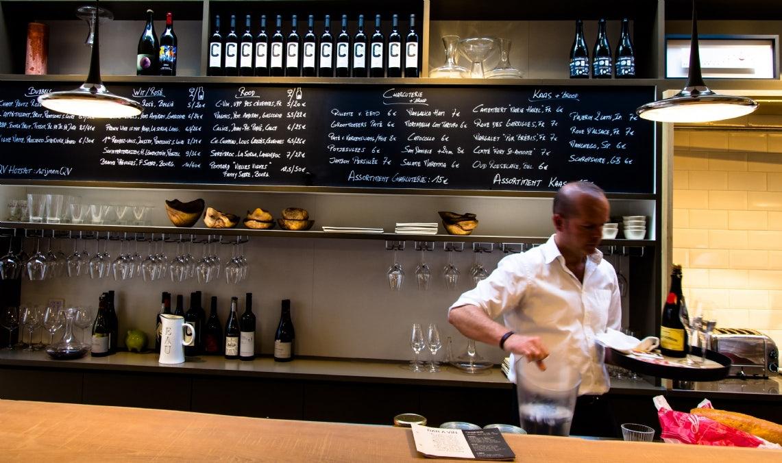 wine bar at Cuvee