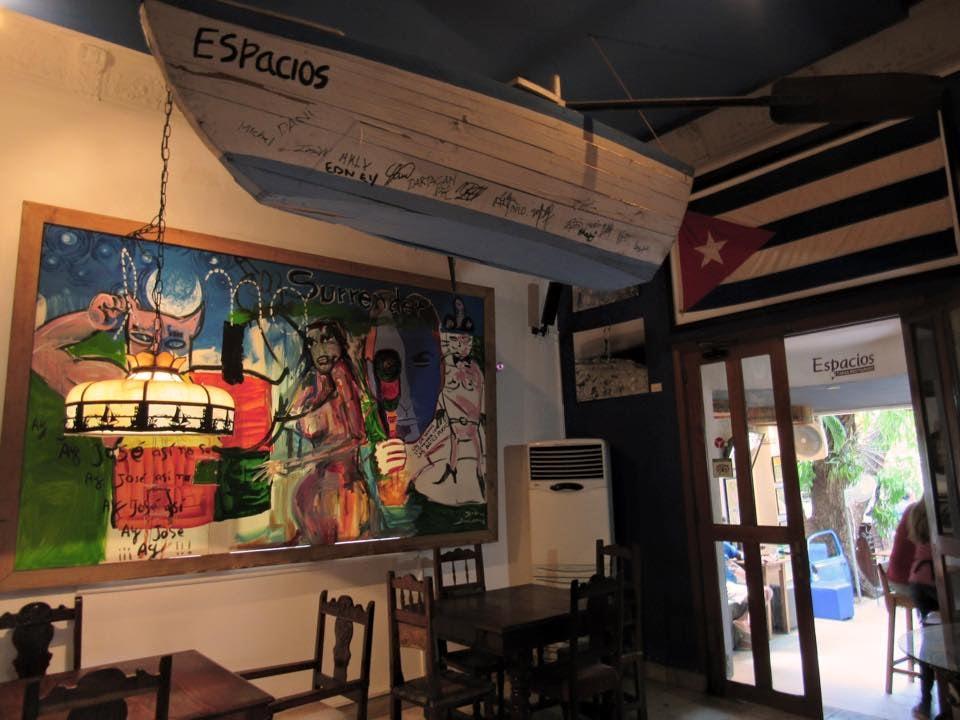 interior of Cuban bar Espacios