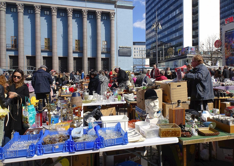 Stockholm - hötorget sunday flea market
