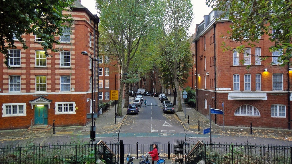 view from Arnold Circus