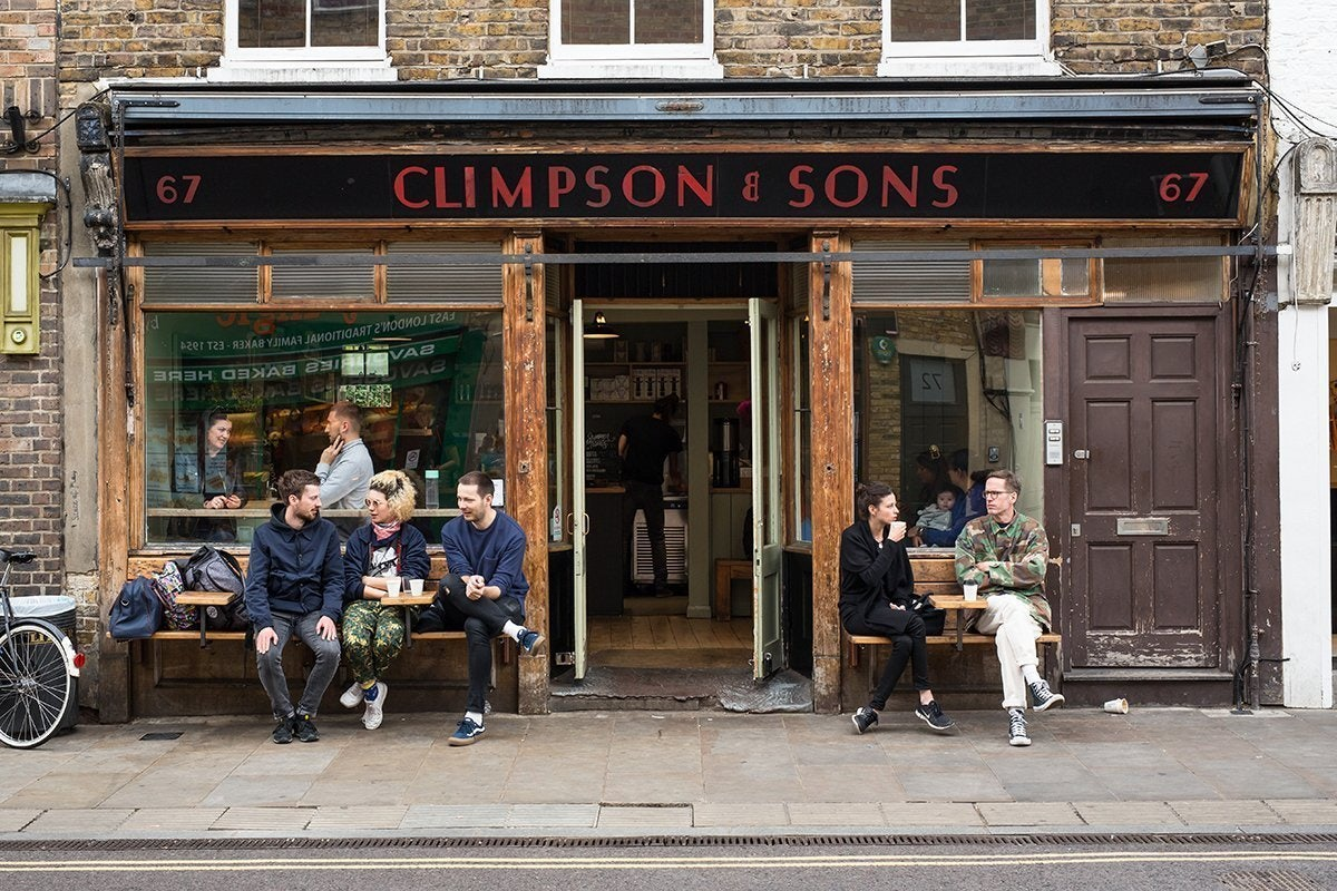 people outside at Climpson & Sons