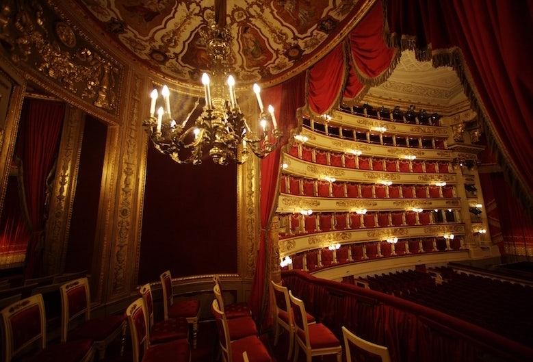 interior of La Scala theatre