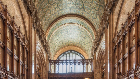 interior and ceiling of the Woolworth Building