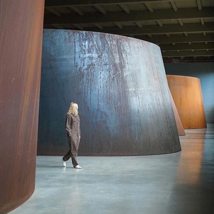 visitor at Dia: Beacon art center