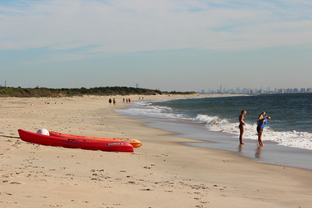 people at Sandy Hook Beach