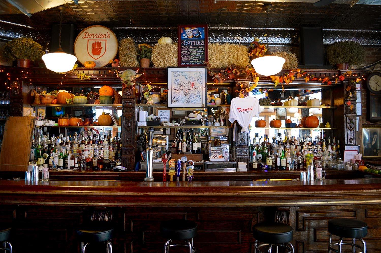 interior of Dorrian's bar