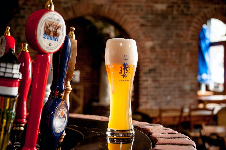 beer at Zum Schneider NYC