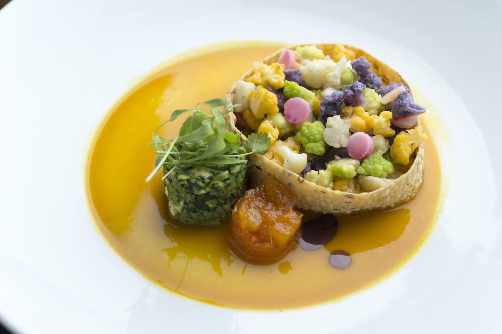 vegetarian dish with cauliflower