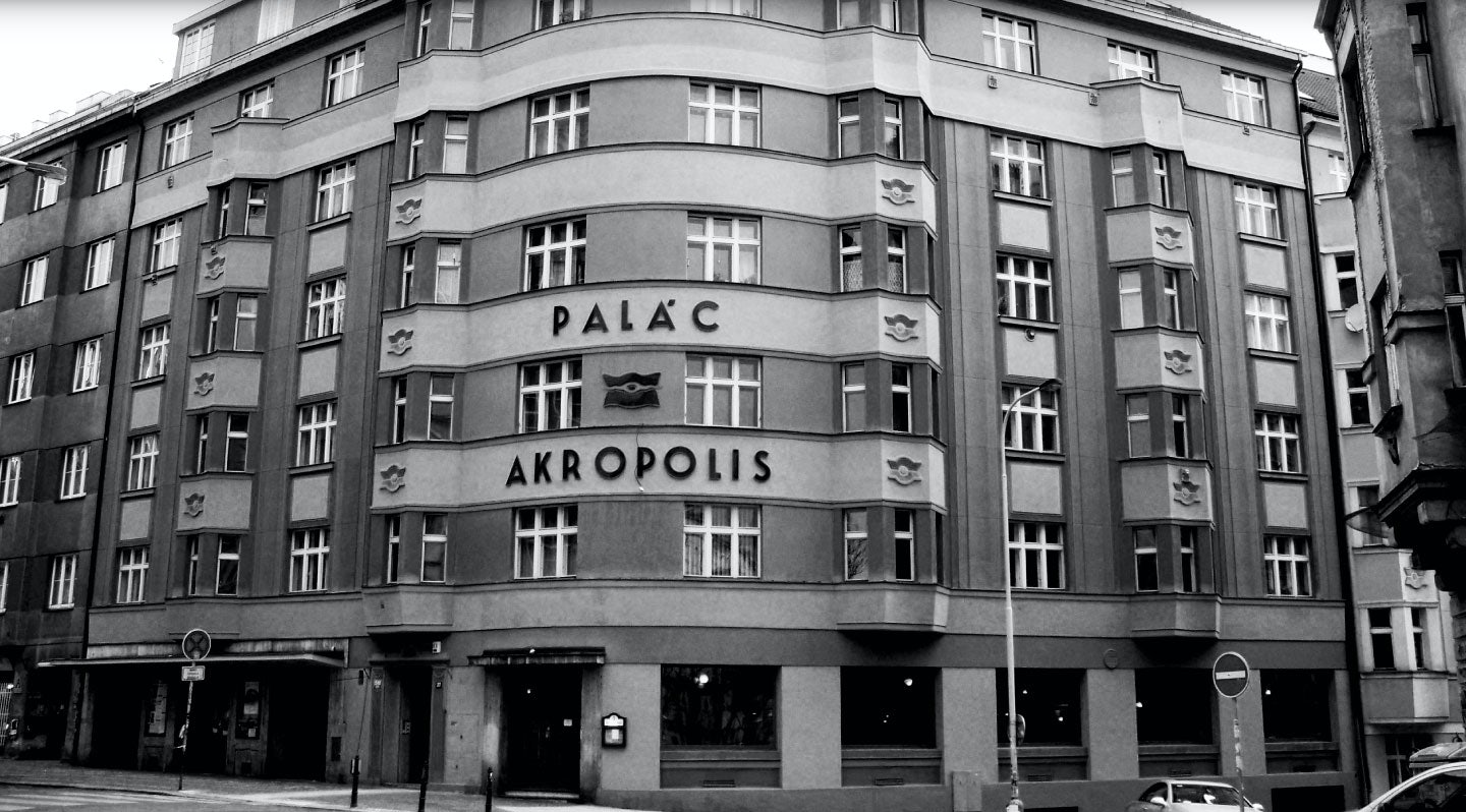 the Palac Akropolis from outside in Prague