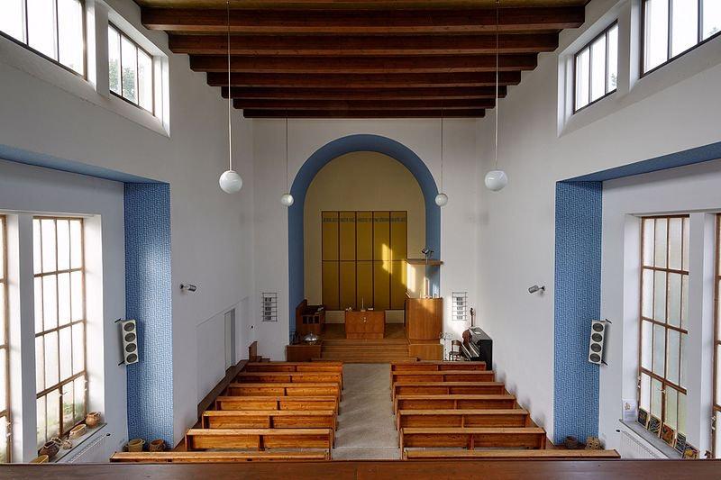 interior of Evangelical Church in Stresovice