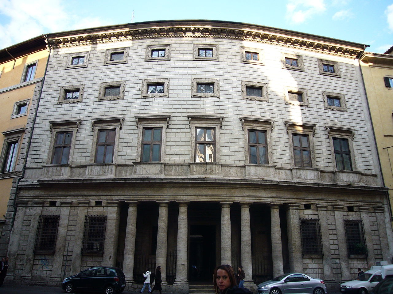 exterior of Palazzo Massimo Alle Colonne