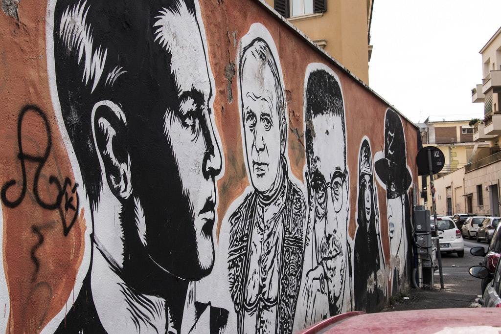 Wall of Fame mural in Rome