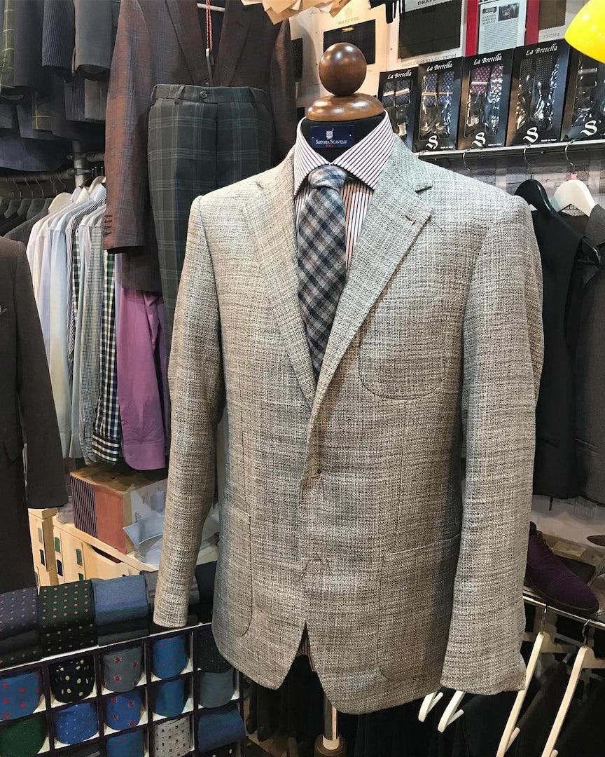 men's suit from Sartoria Scavelli