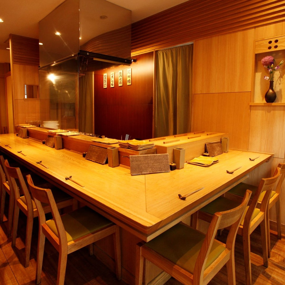 Japanese styled interior of Tori Chataro restaurant