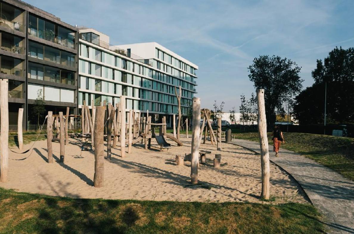 children's playground at the Nieuw Zuid quarter in Antwerp