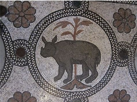 The rhinoceros mosaic in Basilica di San Marco