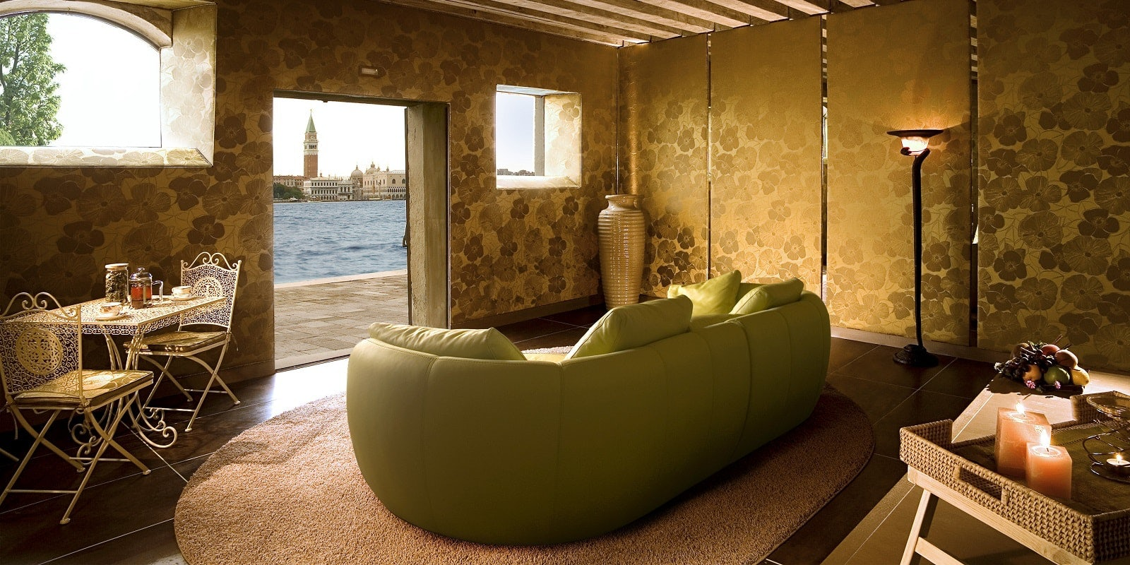Spa lounge at the Bauer Palladio Venice